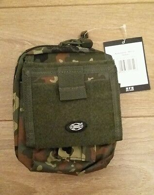 MFH Flecktarn Bundeswehr Camo Map Case Field Case Storage Pockets MOLLE