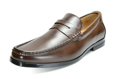 HARRY-02 Men's Dress Classic Leather Lining Slip On Casual Penny Loafers shoes