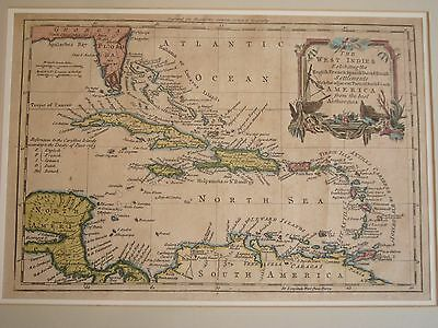 1778 British Map of West Indies Engraved for Charles Theodore Middleton's Rare