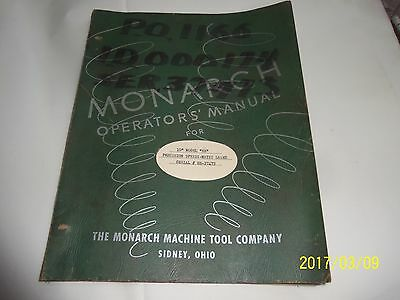"Monarch  10"" EE  Speedi-Matic  Operators Manual"