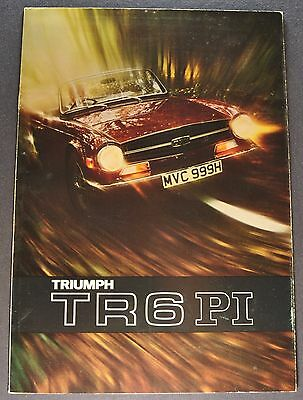 1971 Triumph TR6 PI Catalog Sales Brochure Excellent Original 71