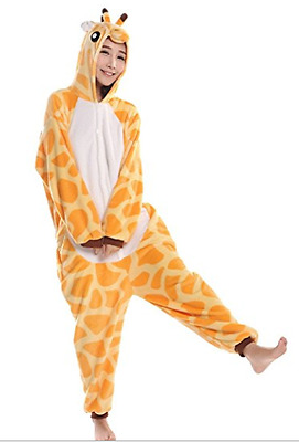 Hot Unisex Adult Pajamas Kigurumi Cosplay Costume Animal Onesie Giraffe Size S M