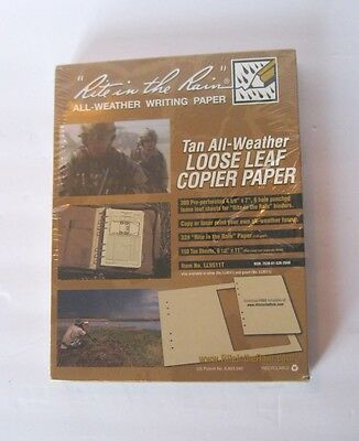 Rite in the Rain Tactical All-Weather Loose Leaf Copier Paper - 150 Tan sheets