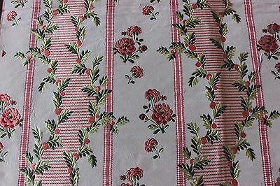 "Antique 19th French Silk Taffeta Brocade ""HAMOT"" Lyon Fabric Sample~18thC Loom"