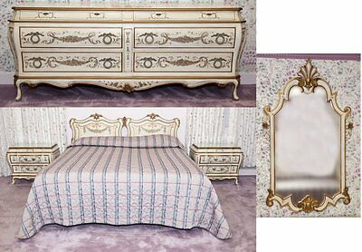 Fine Custom French Rococo Full-Size Bedroom Set by KARGES  c. 1970s  5-Piece