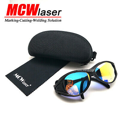 10x Laser Protection Goggles Safety Glasses Eyewear for CO2 laser 10600nm Black