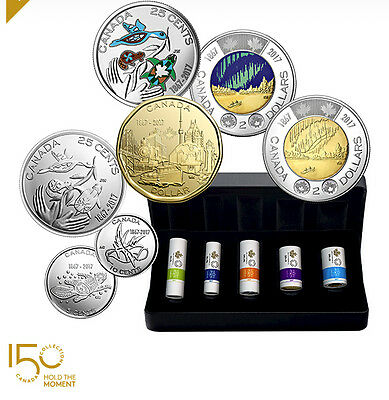 2017 Canada 150th Anniversary My Inspiration Special Wrap Coin Roll Set $2 $1