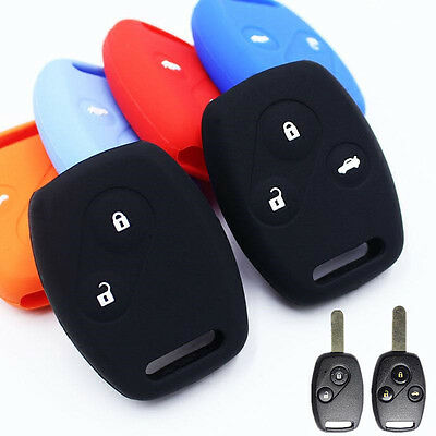 2/3 button Silicone key case cover 1pcs For Honda CR-V Accord Jazz HR-V Civic