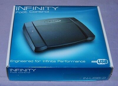 INFINITY IN-USB-2 Foot Control USB Transcription Foot Pedal- Excellent Condition