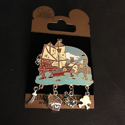 Pirates of the Caribbean Dangle Pin Ship Cannon 2008 Disney Pin Trading LE
