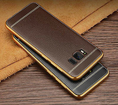 Slim PU Leather Style Soft Rubber Case Cover For Samsung S8 S9 Plus Note 8/9 J7