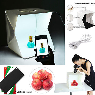 Light Room Photo Studio Photography Lighting Tent Stand Backdrop Cube Box Kit