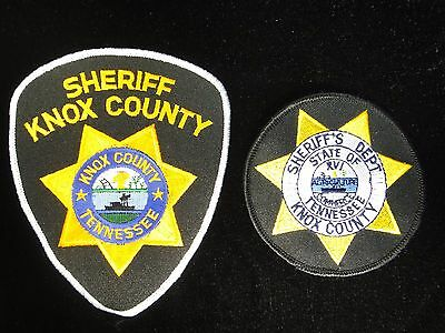 Knox County Sheriff's Dept. State of Tennessee Patch TN Law Enforcement Lot of 2
