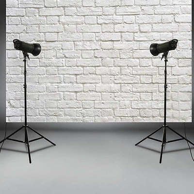 5X3FT White Brick Wall Vinyl Background Photography Photo Studio Props Backdrop