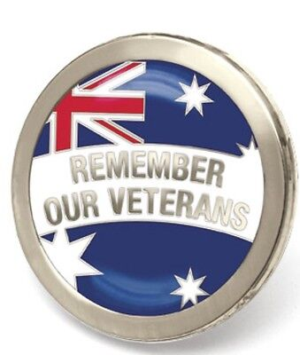Remember Our Veterans Badge Lapel Pin *Remembrance Day * ANZAC Day*NEW
