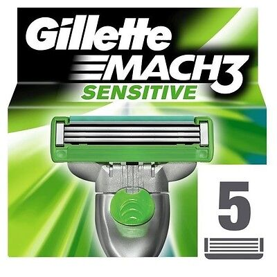 GILLETTE Lames MACH3 SENSITIVE (pack de 5)