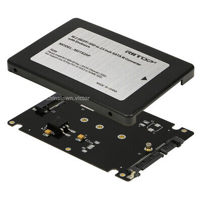 """M.2 NGFF SSD to 2.5"""" SATA 3 Converter Adapter Card with Case Enclosure 7mm"""