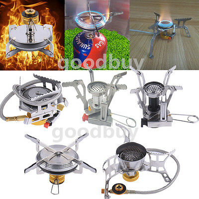 Mini Outdoor Camping Hiking Gas Stove Furnace Split Burner Cookware Equipment