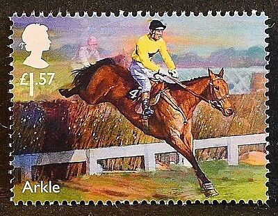 "Racehorse Legend ""Arkle"" illustrated on 2017 stamp - Unmounted mint"