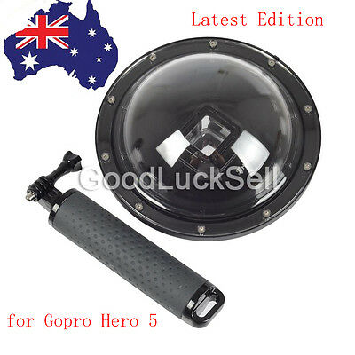 AU Shoot 6'' Dome Port Underwater Diving Camera Cover Lens Case for Gopro Hero 5