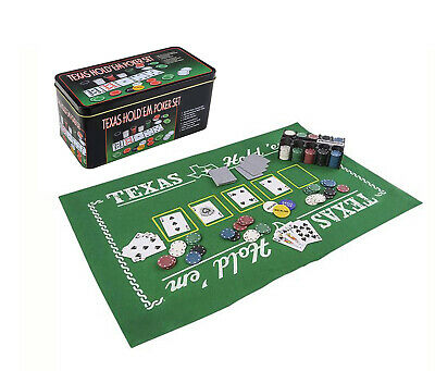 Mozlly Texas Holdem Poker Casino Theme with Play Mat  Sport Gaming Set
