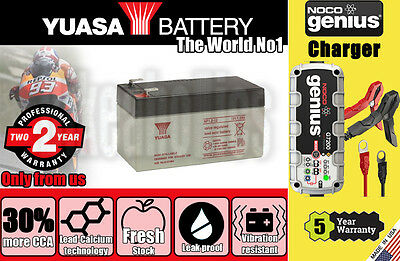 Genuine Yuasa Battery 2Years Warranty - NP1.2-12 + Noco G7200 charger