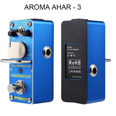 AROMA AHAR - 3 Harmonizer Pitch Shifter True Bypass Electric Guitar Effect Pedal