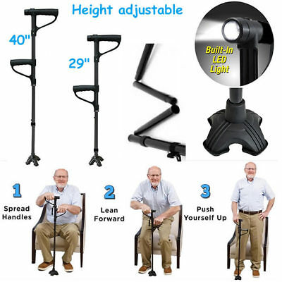 Mobility Walking Stick with light | Folding & Height Adjustable | Free Standing