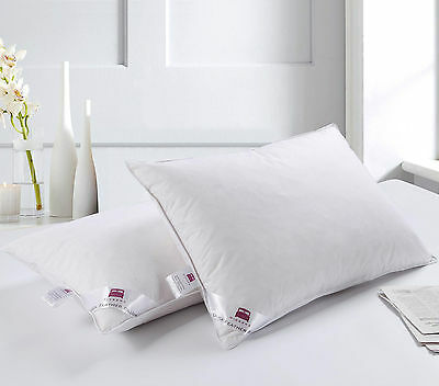 2 x Luxury Duck Feather Pillow Twin Pack, Comfortable Filling Hotel Quality