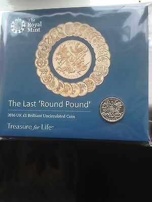 The Last Round Pound ROYAL MINT 2016 UK £1 Brilliant Uncirculated Coin