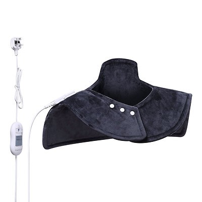 Neck Shoulder Electric Heat Heating Healing Pad Wrap Muscle Pain Ache Relief New