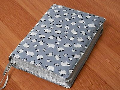 New World Translation 2013 Zipped Fabric Bible Cover - Sheep on Grey