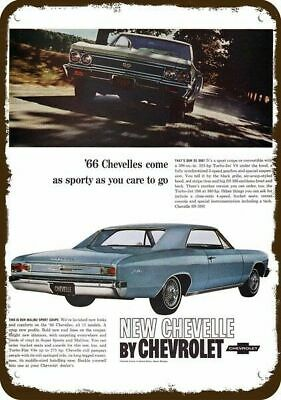 1966 CHEVROLET CHEVELLE MALIBU & SUPER SPORT Car Vintage Look Replica Metal Sign