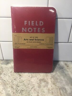 Field Notes COLORS Arts and Sciences Pack New Sealed Memo Books &