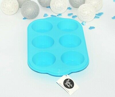 6 Cup Large Silicone Non Stick Muffin Tin Tray Baking Pudding Mould Bun