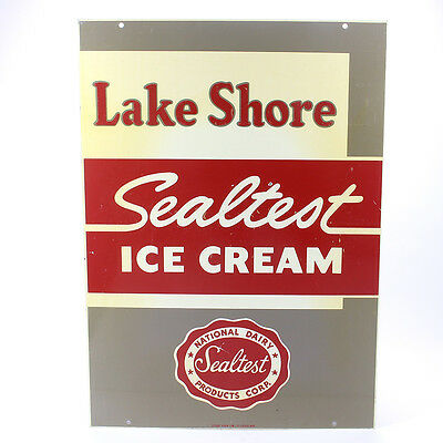 Vintage Sealtest Ice Cream Double Sided Sign NOS