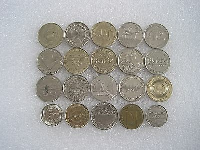 20 Different Vintage Casino Tokens Lot 1C236 0413