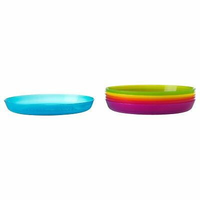 KALAS Plastic Plates Multicolour Pack of Six Microwave Safe Party Dishes