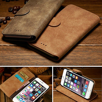 Luxury Genuine Suede Wallet Case Leather Flip Cover for Apple iPhone 6s 6 Plus