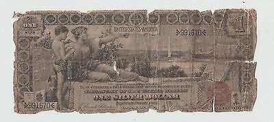 1896 One Dollar Bill $1 United States Educational Series Silver Certificate Note