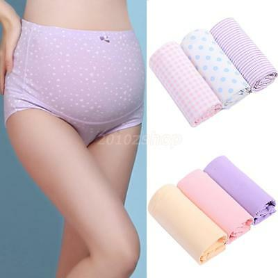 3 Pcs Pregnancy Maternity Underwear Brief Panties Cotton Over Bump Support Tummy