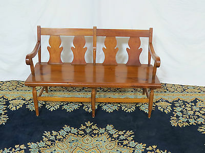 Stickley Bench Signed Farmhouse Rare And Beautiful
