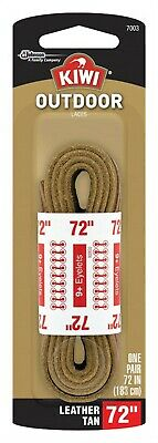 "Kiwi Outdoor Boot Lace 72 "" Brown Rawhide Leather Blister Pack"