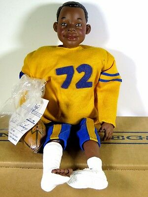 "Nib Daddy Long Legs Doll 12"" 1995 With Coa Football Bull Bishop"