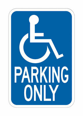 Hy-Ko  English  Blue  Informational  Sign  18 in. H x 12 in. W
