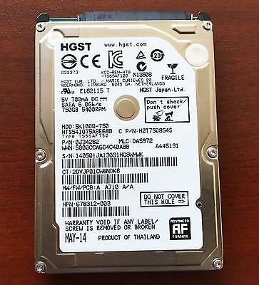 HGST (WD) 750GB Laptop HD / Hard Drive, formatted for Apple iMac / Macbook