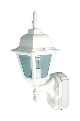 Heath Zenith Motion Activated Outdoor Wall Light Country Cottage 17.375 In. Wht