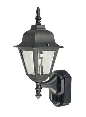 Heath Zenith Motion Activated Outdoor Wall Light Country Cottage 17.375 In. Blk