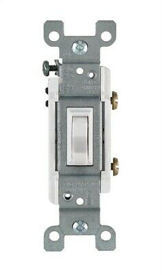 Leviton Heavy Duty Toggle Switch Single Pole Residential 15 Amp White Csa Carded