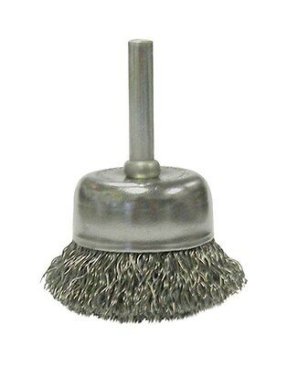 """Weiler Crimped Wire Cup Brush 2 """" 13000 Rpm Coarse"""